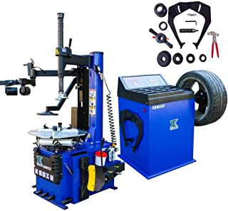XK USA 1.5 HP Automaticw Tire Machine Tire Changer Wheel Balancers Machine Rim Balan CER Combo 960 680 Rim Clamping 12