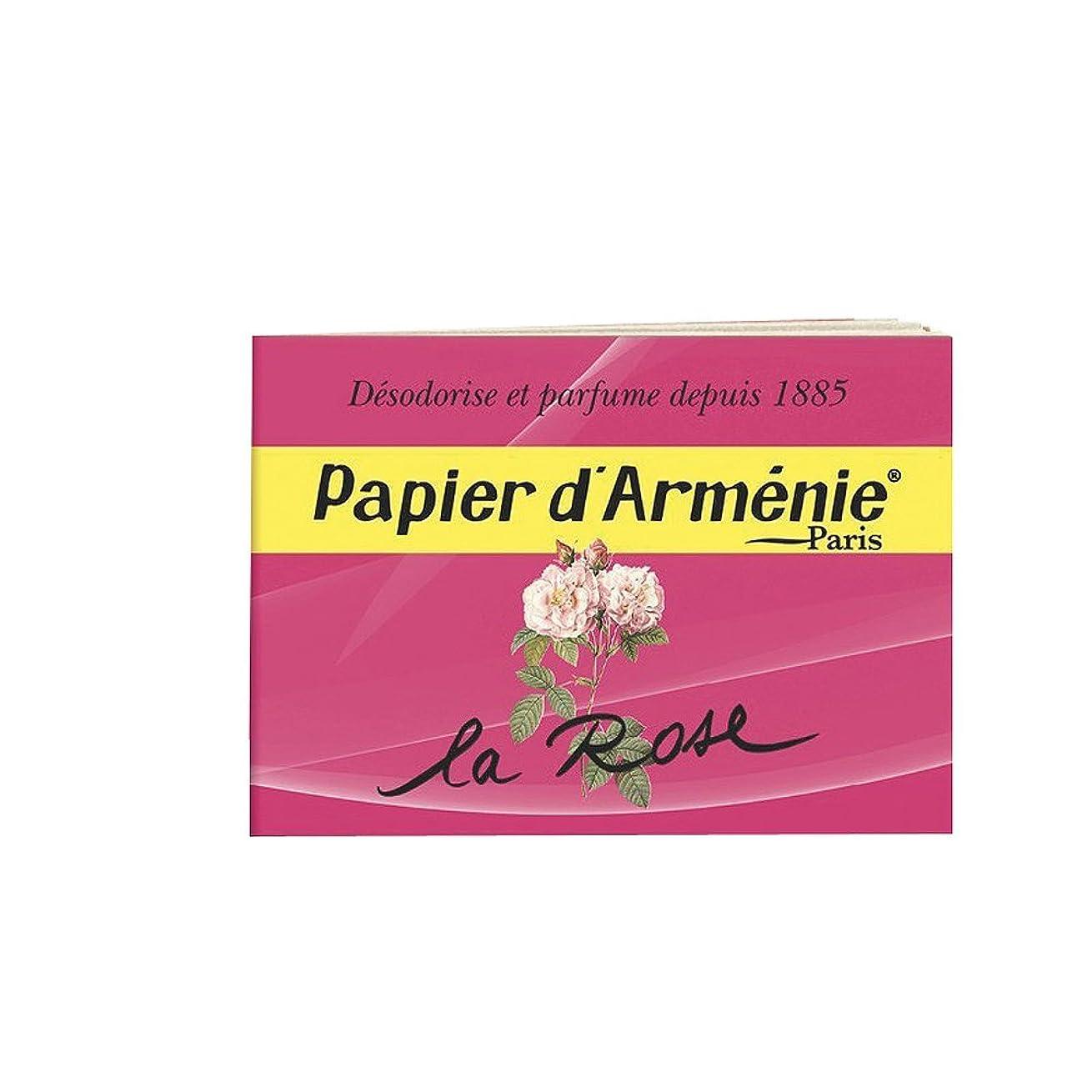 受け入れルー神秘的なPAPIER D'ARMENIE La Rose (1 carnet)