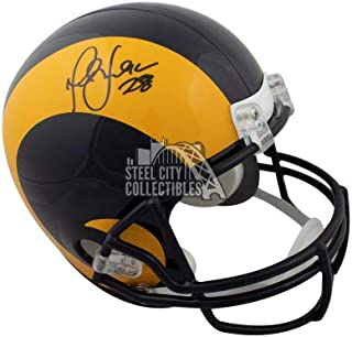 Marshall Faulk Signed Helmet - Yellow Full Size - JSA Certified - Autographed NFL Helmets