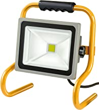 Brennenstuhl 移动芯片 LED 灯/LED 射灯 室外 (室外射灯 30 瓦, 建筑射灯 IP65, LED 泛光灯日光) 颜色:银色/黄色