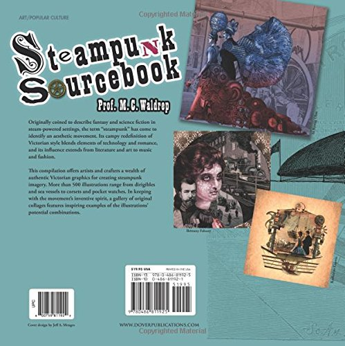 Steampunk Sourcebook (Dover Pictorial Archive) steampunk buy now online