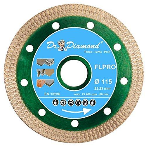 Dr. Diamond Diamant-Trennscheibe Fliese Turbo Profi 125 mm Bohrung 22-23 mm Fliesen-Trennscheibe