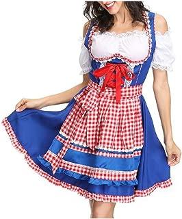 MOUNTAIN MEN-Halloween Costumes Ladies Halloween Costume Bavarian National Costume German Beer Costume Halloween Carnival Night (Color : 02, Size : M)