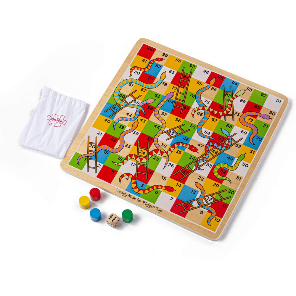 Bigjigs Toys Escaleras y Serpientes Tradicional: Amazon.es: Juguetes y juegos