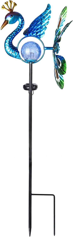 Afirst Solar Peacock Wind Overseas parallel import regular item Spinner Metal Houston Mall Stake Li Garden Kinetic