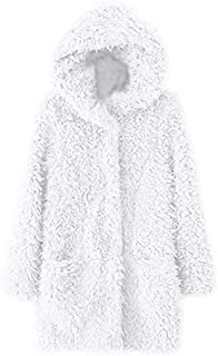ZEVONDA Women's Winter Long-Sleeved Warm Cardigan Coat
