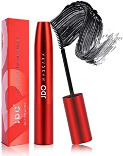 JDO Volume Mascara 4D Silk Fiber Lash Mascara, Lengthening Waterproof Mascara Black, Natural Smudge-proof Mascara No Clumping & Long Lasting Charming Eye Makeup