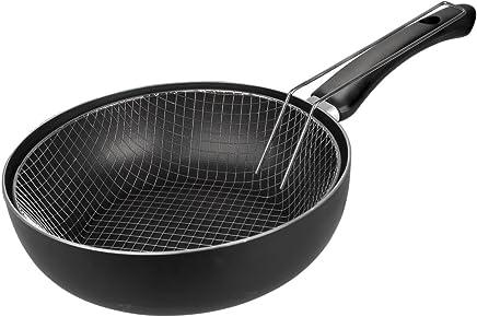 IBILI Sarten Freidora Inducta 18 cm, Aluminio, Negro