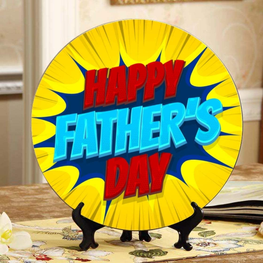 Lajro Happy Father's Sales of SALE items from new works Day Elegant Ceramic Plates Decor Party Kids