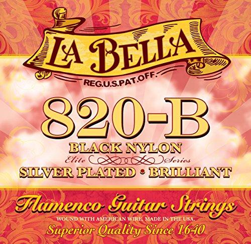 La Bella Flamenco 820 B, snaren voor klassieke gitaar, zwart nylon/zilver