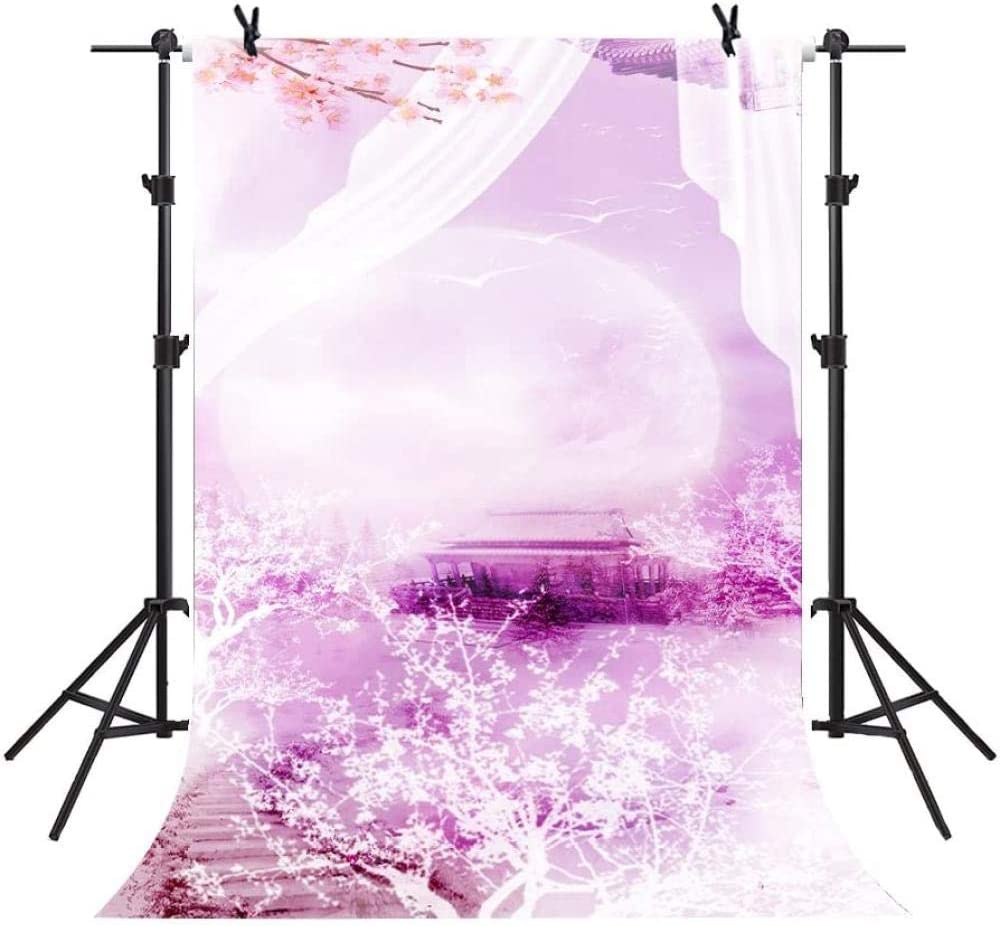 HD Backdrop 5X7ft Pink Rose Background Wedding Party Photography Seamless Vinyl Photo Studio Props GYMM300