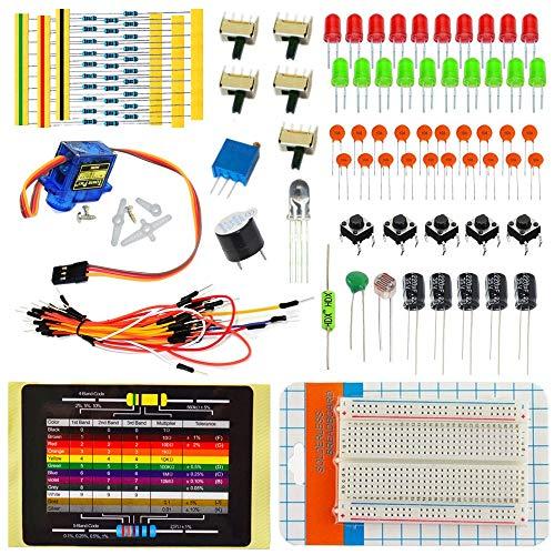 Módulo electrónico Práctico For DIY Kit De Componentes Electrónicos De Envasado con Cortar El Pan De Cerámica Condensador Resistencia A-r-d-u-i-n-o Starter Kit