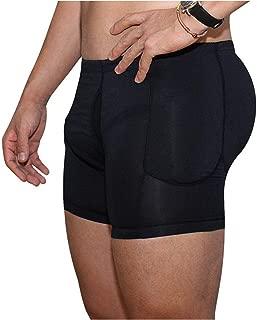 Men Black Brief Padded Butt Booster Enhancer Hip-up Boxer High Waist Skinny Panties Underwear