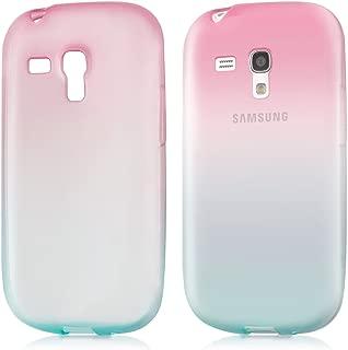 kwmobile Case for Samsung Galaxy S3 Mini i8190 - Clear TPU Soft Phone Cover - Bicolor Design, Dark Pink/Blue Matte