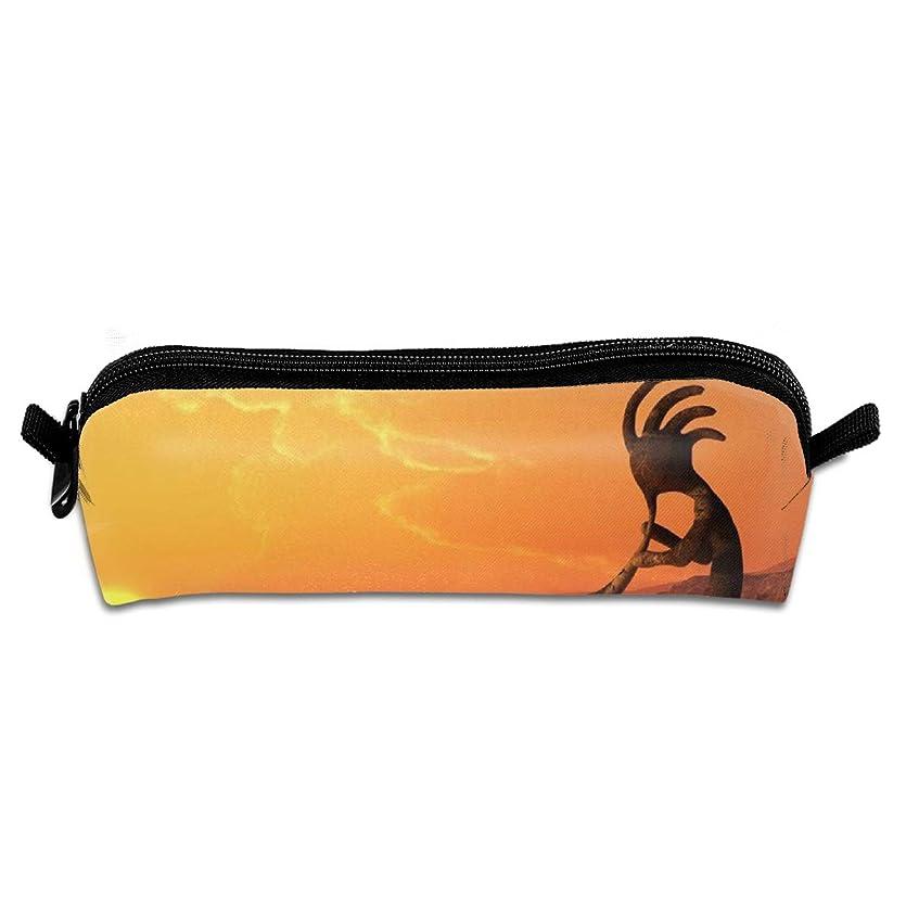 最大リスク防ぐKokopelli Southwestern Style Native American Eastern Ancient Belief 文房具袋筆箱化粧品袋筆箱色鉛筆文具小学生高校生小容量便利なシンプルな男の子と女の子
