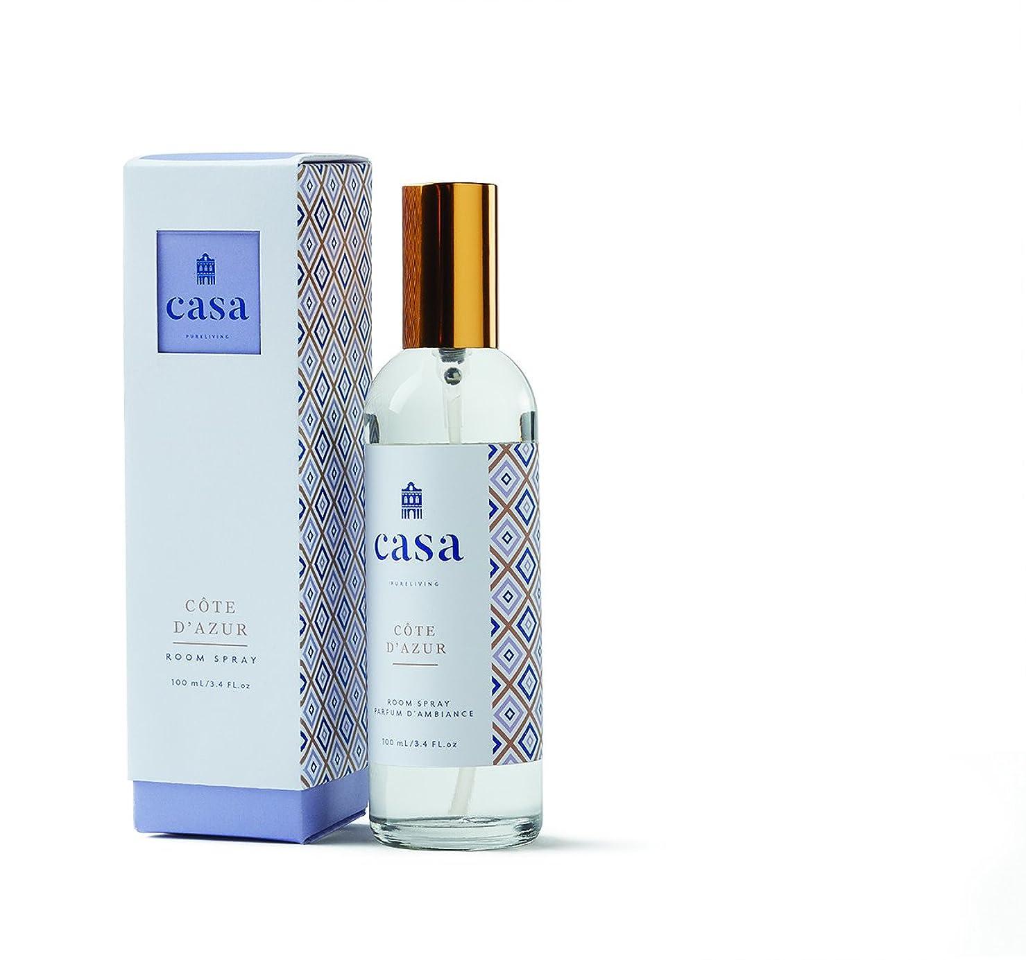 プレミア包括的出費CASA カーサ ルームスプレー ブルー メディタレアン ミスト Room Spray Mediterranean Mist ピュアリビング Pureliving