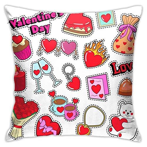 Funda de cojín con pegatinas para el día de San Valentín, para sofá, decoración de sofá, regalo de 45,7 x 91,8 cm