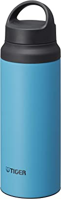 Tiger Stainless Steel Vacuum Insulated Bottle with Handle, 20-Ounce, Turquoise Blue