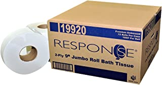 Response 19920 Prem Embossed Jumbo 2-Ply Bath Tissue Roll, 9