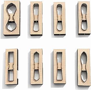 Lot de 8 matrices de découpe en bois pour loisirs créatifs, scrapbooking, gaufrage, cuir, bricolage, artisanat, porte-clé...