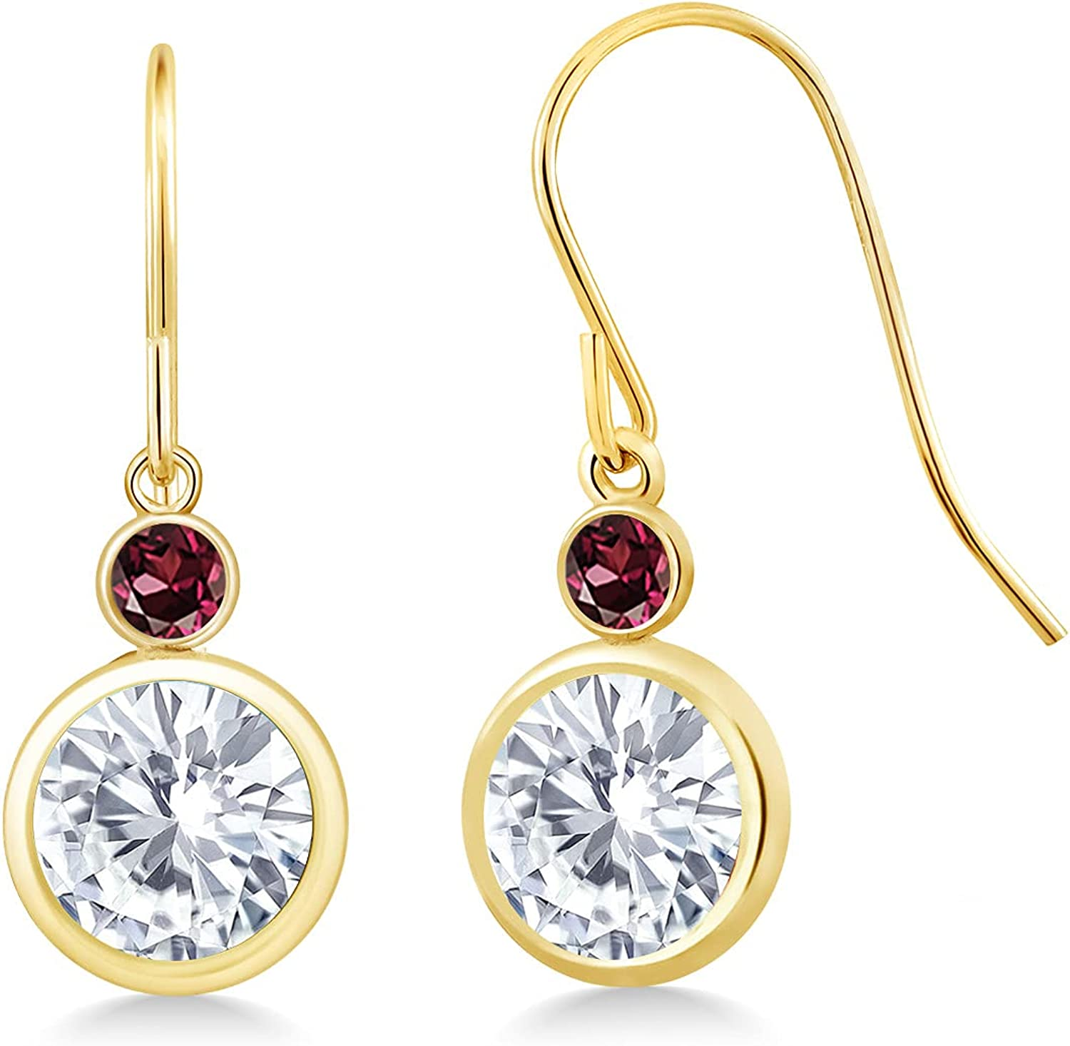 14K Yellow Gold Max 72% OFF Dangle Earrings Set Round Forever with One GHI Atlanta Mall