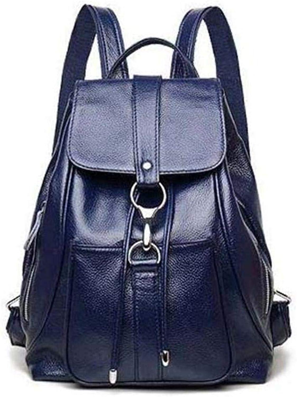 DEGDAI Rucksack Rindsleder Damen Casual Rucksack Mode vielseitige Weiches Leder Ruckscke Leder Frauen Tasche 32  25  13 cm