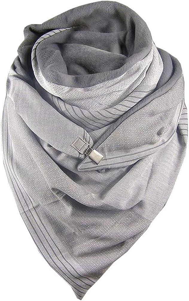 CMTOP Otoño Invierno Bufandas Mujer Grandes de Chal Cálido Abrigo de Cuello Al Aire Libre Irregular Geométrico Moda Calentito Suave Retro Elegante Unisex