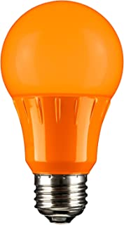 Sunlite 80147 Orange LED A19 3 Watt Medium Base 120 Volt UL Listed LED Light Bulb, last 25,000 Hours