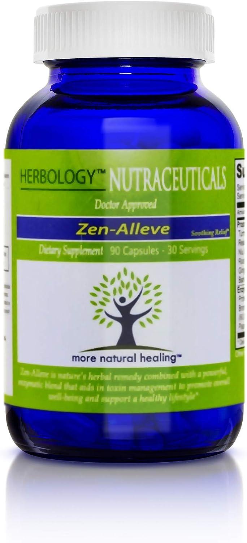 Zen-Alleve - 90 Veggie Finally resale start Capsules Arlington Mall Natural Anti-Infla Relief Pain