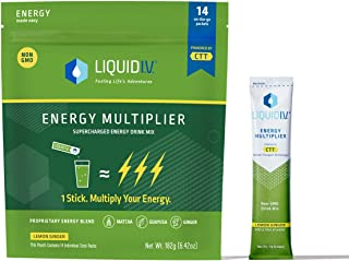Liquid I.V. Energy Multiplier | Sustained Energy Powder Packets | Matcha and Green Energy Blend Drink Mix | Natural Caffei...