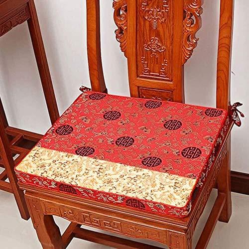 Cuscino per sedia in mogano, [Stile cinese] Cuscini Cuscino per divano in mogano Tappetino per divano in legno massello Spugna Cuscino per poltrona Tappetino per seduta [Classico] (Colore: A, Dimensio
