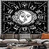 Tapiz de sol y luna, tapiz de encaje hippie, colgante de pared, decoración bohemia para el hogar, tapiz de tela de fondo para dormitorio, tapiz A1 180x230cm