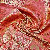 Textile Station Ornamentaler Damast-Stoffdruck mit