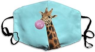Mouth Mask Giraffe With Bubble Gum Fashion Earloop Face Mask For Kids Teens Men Women Winter Summer