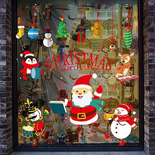 ZHAOWM Etiqueta de la pared de navidad Navidad Pegatinas De Pared Pegatinas...