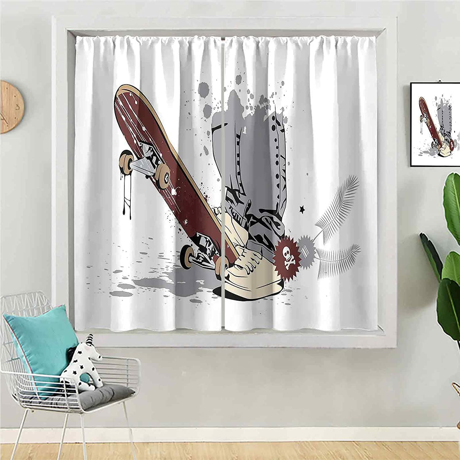 Blackout Max 71% OFF Curtain 84 Popularity inches Long for Window Kids Panel Be