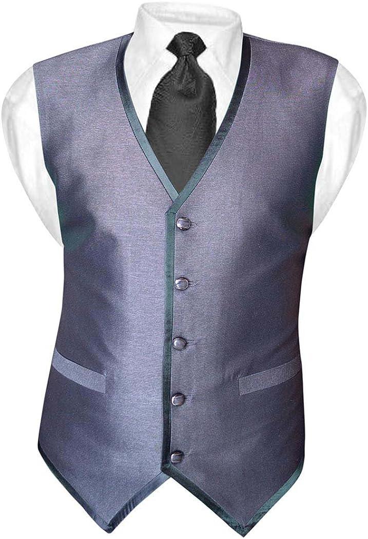 INMONARCH Mens Gray Polyester Tuxedo Vest Casual 5 Button MV02