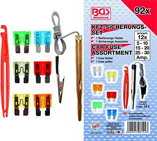 Preisvergleich Produktbild BGS 8124 / Kfz-Sicherungs-Sortiment / Standard / 92-tlg.