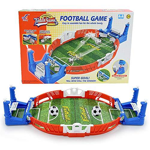 LQKYWNA Mini-Tischfußballspiel, Innen 2-Spieler-Party-Tischkicker-Spielzeug-Geschenk für Kinder Erwachsene Förderung Freundschaft & Eltern-Kind-Beziehung