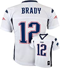 Outerstuff 2012-2013 Season Tom Brady New England Patriots White NFL Youth Jersey (Small 8)