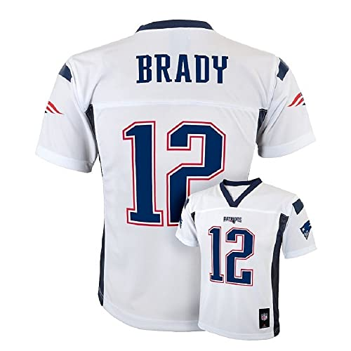 Tom Brady New England Patriots NFL Youth White Road Mid-Tier Jersey 6acfb45c0