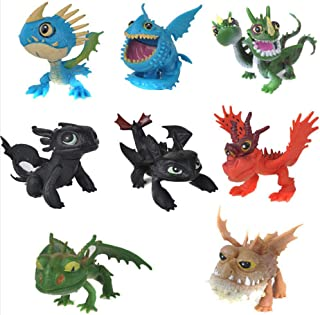 SKEIDO How to Train Your Dragon 8 pcs Action Figures Set: Toothless Night Fury Nadder