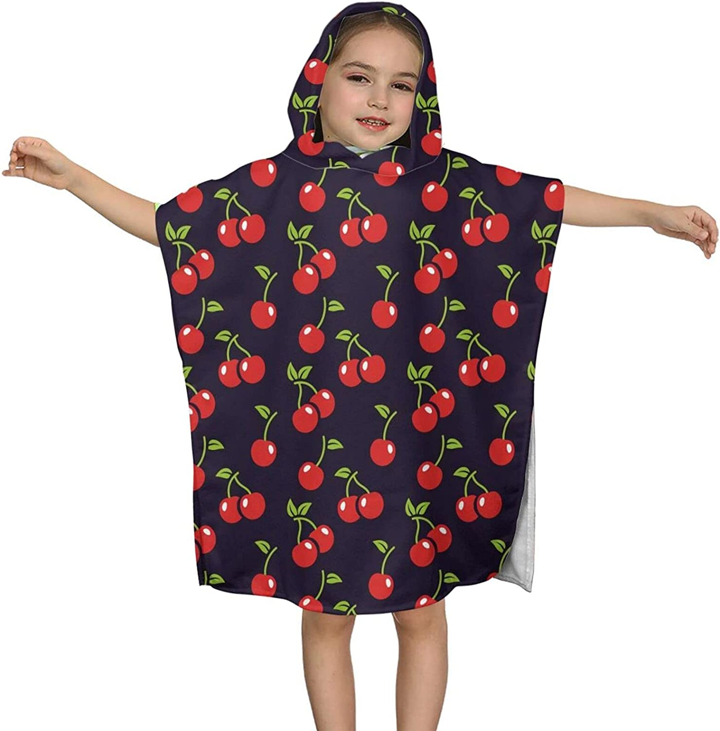 Super Special SALE held Hooded Bath service Towel Red Cherry Kids Soft Wrap Pattern