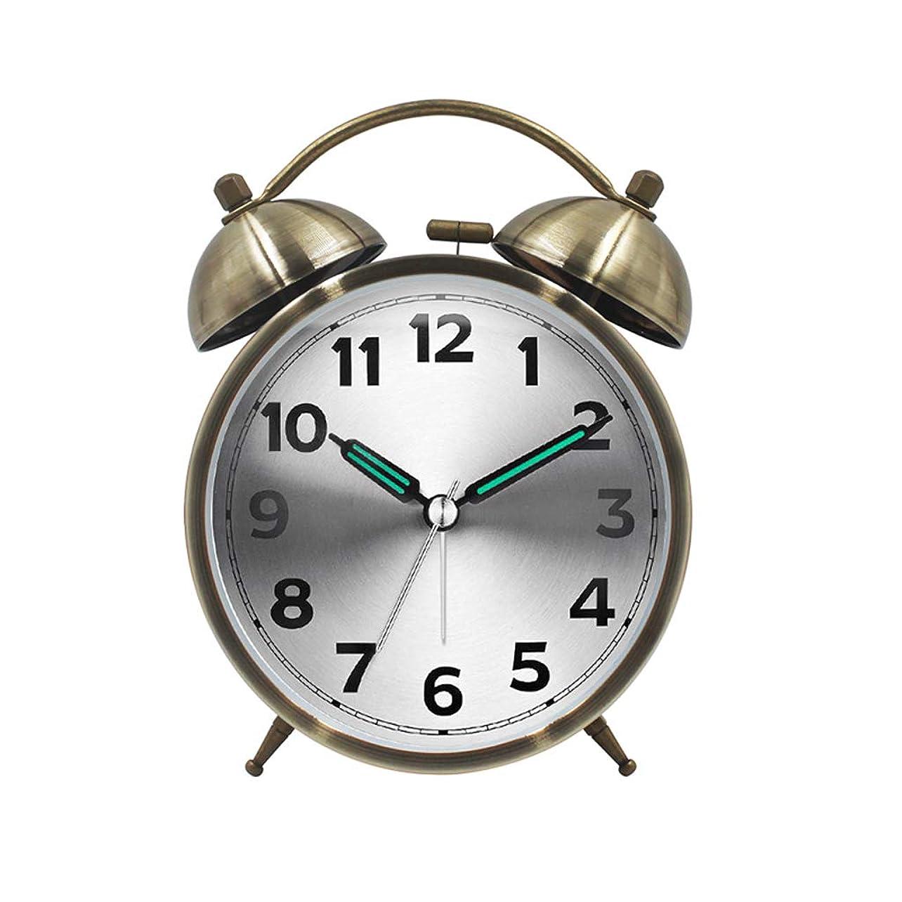 抑制するモルヒネリズム目覚まし時計創造的な学生かわいいベッドサイド男性近代的なミニマリスト小さな新鮮な小さな目覚まし時計サイレントチャイルド漫画 (色 : ブロンズ)