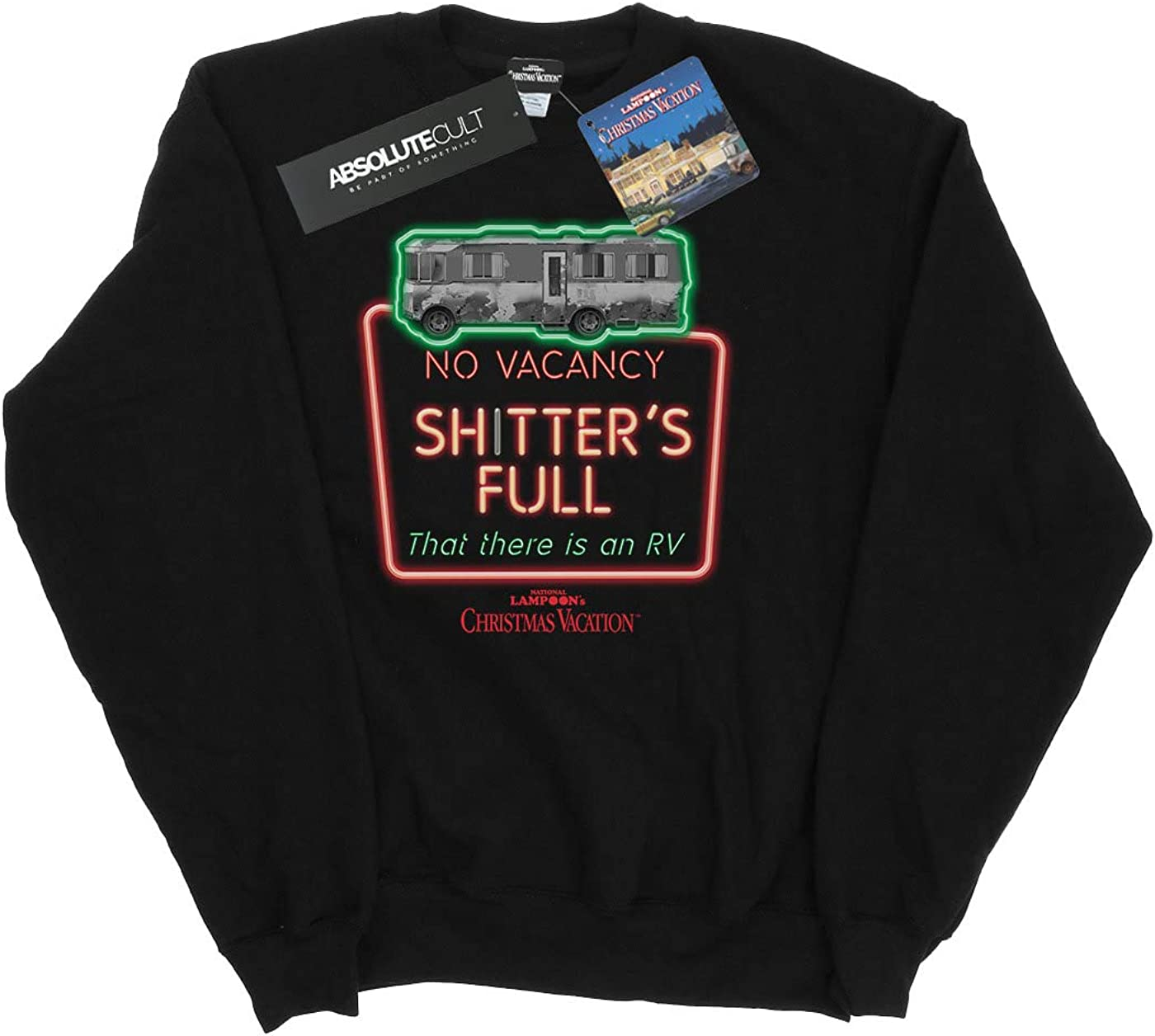 National Lampoon's Christmas Vacation Homme Greyscale No Vacancy Sweat-Shirt Noir