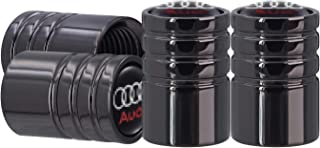 AOOOOP Tire Valve Caps for Audi Car Tyre Valve Stem Caps Heavy-Duty Air Cover for Audi A3 S3 RS3 A4 S4 A5 S5 RS5 A6 S6 A7 S7 RS7 A8 Q3 Q5 SQ5 Q7 Q8 (4PCS Black)