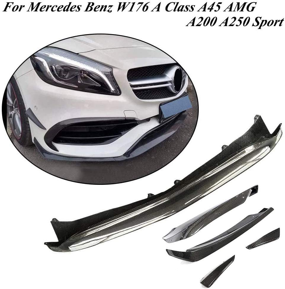 JC SPORTLINE W176 Spasm price CF Front Easy-to-use Lip fits for Benz Mercedes Splitters