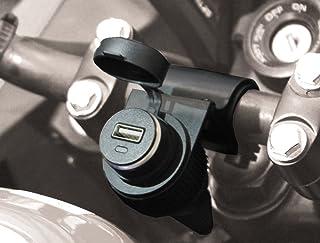 BC Battery Controller 710 S12USB Wasserdichte Bordsteckdose/Zigarettenanzünderbuchse mit Lenkerhalterung für Motorrad mit USB Adapter 5 V