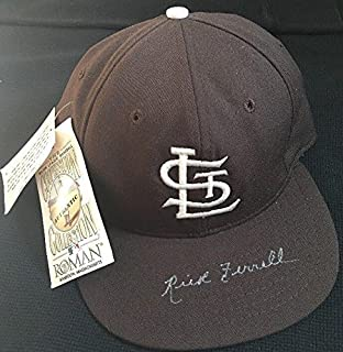 a7bbe56abfee4 RARE Rick Ferrell Dec1995 Hall of Fame 1984 Signed Hat St. Louis Browns -  JSA