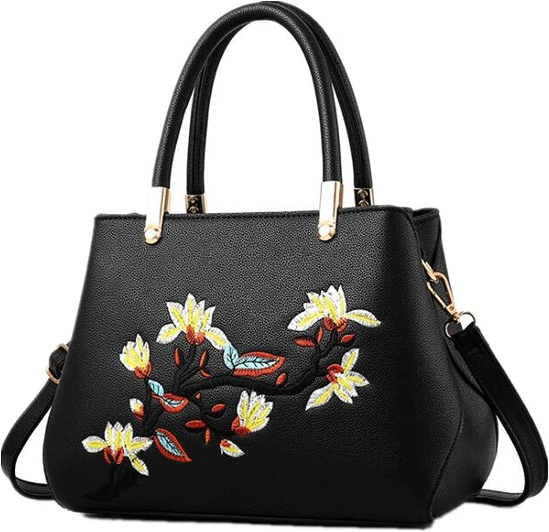 NZZNB Fashion Handbags Popular Slant Bag Flower Texture Woman Bag Single Shoulder Bag Top-Handle Handbags